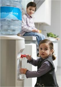 Fuente de agua, en casa