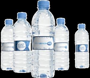 Botellines de agua mineral